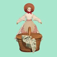 Charming Child-size French Picnic Basket