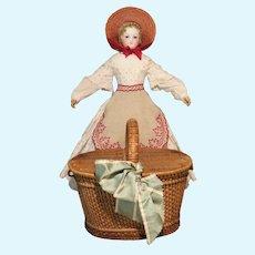 Charming Child-size French Picnic Basket