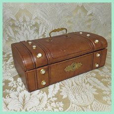 Petite Leather Coffret - French - For Doll Trunk