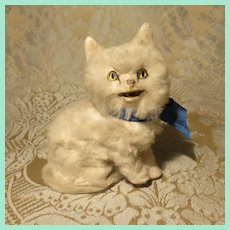 Engaging Miniature Fur Kitty for Doll Display