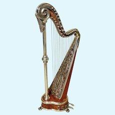 Very Fine Miniature Harp - Sacchetti - Vintage