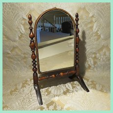 Antique French Cheval Mirror for Doll Display