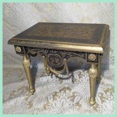Elegant Vintage Painted Table for Doll Display