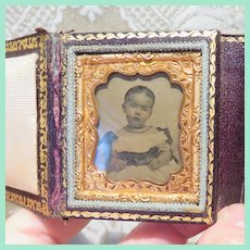 Lovely Miniature Cased Ambrotype of Young Girl - Circa 1860