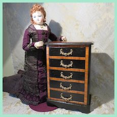 Handsome Tall Chest of Drawers for French Fashion  Vignette -Antique