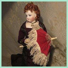 Splendid Fringed Parasol for French Fashion doll