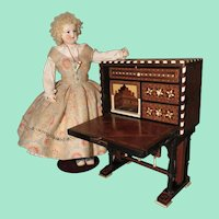 Spanish Bargueno Desk - Antique Miniature - Nineteenth Century