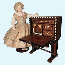 Spanish Bargueno Desk - Antique Miniature - Nineteenth Century