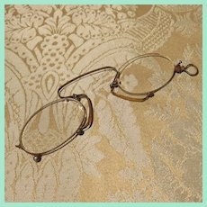 Pair of Antique Pince-nez Glasses for Larger Doll or Teddy Bear