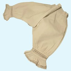 Antique Pantaloons for French Bebe - Larger Size
