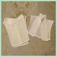 Pair of Early White Dickies for French Fashion Dolls