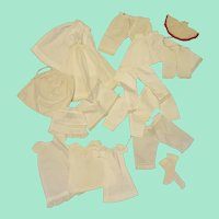 Large Lot of Antique White Undergarments for Dolls