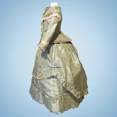 """Silk Walking Costume for 17"""" French Fashion"""