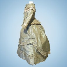 """Silk Walking Costume for 17"""" French Fashion - Vintage"""