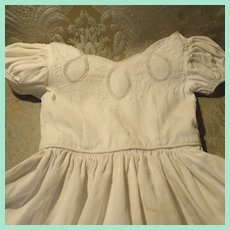 Child-Size Pique Soutache Dress