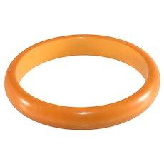 Bakelite Bangle Bracelet Butterscotch Yellow Vintage