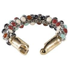 Balenciaga Paris Multicolor Hook Clasp Bracelet