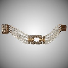 Coppola e Toppo Italian Beaded Bracelet with Faux Pearls Vintage