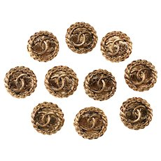 Chanel Clothing Buttons Set of 10 Vintage