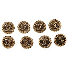 CHANEL Buttons CC Logo Round Set of 8