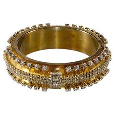Erickson Beamon Lucite with Rhinestones Bangle Bracelet