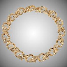 Elizabeth Taylor Eternal Flame Necklace Rhinestones Vintage 1993