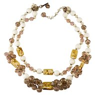 Miram Haskell Art Glass Cluster Bead Necklace