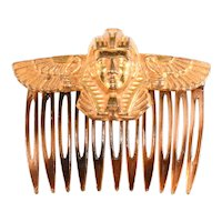 Miriam Haskell Egyptian Revival Hair Comb 1970s Vintage