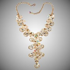 Juliana Crystal Beads Faux Pearls Rhinestone Waterfall Dangles Necklace