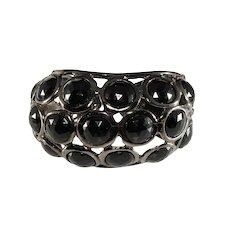 KJL Cuff Bracelet Black Hematite Kenneth Jay Lane K.J.L.