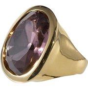 K.J.L. Pink and Gold Finger Ring Adjustable Kenneth Jay Lane