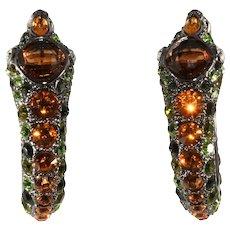 Kenneth Jay Lane Rhinestone Snake Earrings KJL
