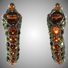 Kenneth Jay Lane Rhinestone Snake Earrings KJL