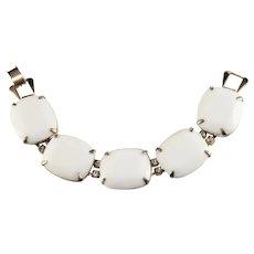 Kramer White Bracelet Vintage 1960s