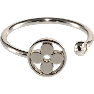 Louis Vuitton Ring 18K White Gold Diamond Idylle Blossom Mini Sun