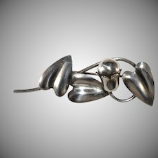 McClelland Barclay Sterling Silver Spray Brooch Pin Vintage