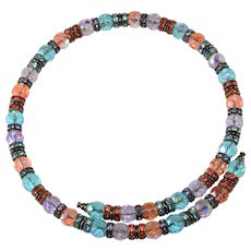 Francoise Montague French Rhinestone Collar Wrap Necklace