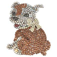 B&M Von Walhof HUGE Pete the Puppy Little Rascals Dog Brooch Pin
