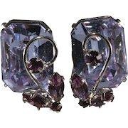 Vogue Alexandrite Color Change Rhinestones Earrings Vintage
