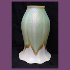 QUEZAL Decorated Art Glass Shade pre 1919