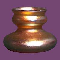 Tiffany Favrile Glass Miniature Squat Vase