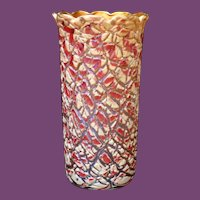 Durand RED Egyptian Crackle Lamp Shade