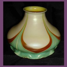 FINE Steuben Decorated Art Glass Shade.