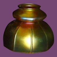 STEUBEN Gold AURENE Craftsman Style Art Glass Shade