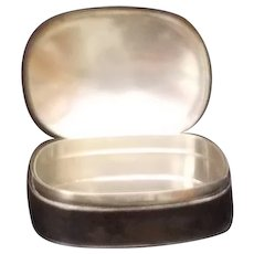 Scarce Sterling Sliver Pill Box by Arthur Stone's Shops / 1907 - 1937
