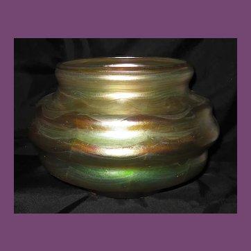 Very FINE Tiffany Studios Decorated FAVRILE Glass Vase.