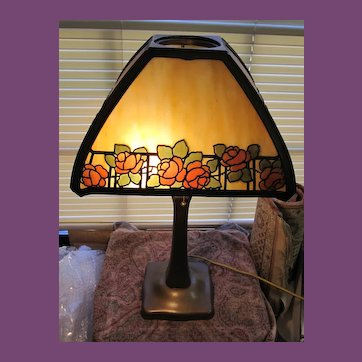 HANDEL Floral Overlay Panel Boudoir Lamp