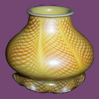 "Fine & RARE Steuben miniature ""FISH NET"" Art Glass Shade"