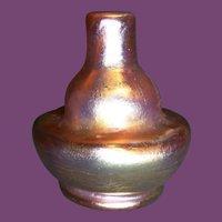 Tiffany Favrile Glass Miniature Gourd Vase
