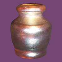 Tiffany Favrile Glass Miniature Ribbed Vase
